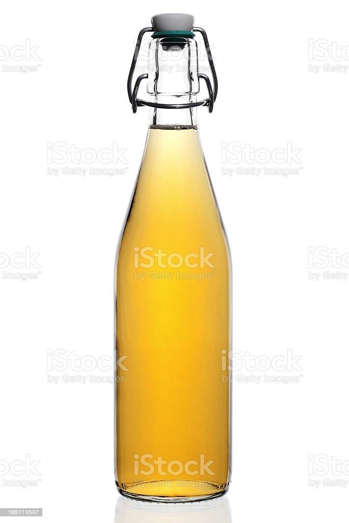 Flasche Apfelsaft. – Foto