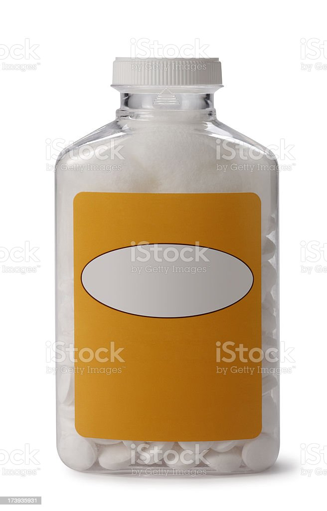 Bottle of Aspirin royalty-free stock photo
