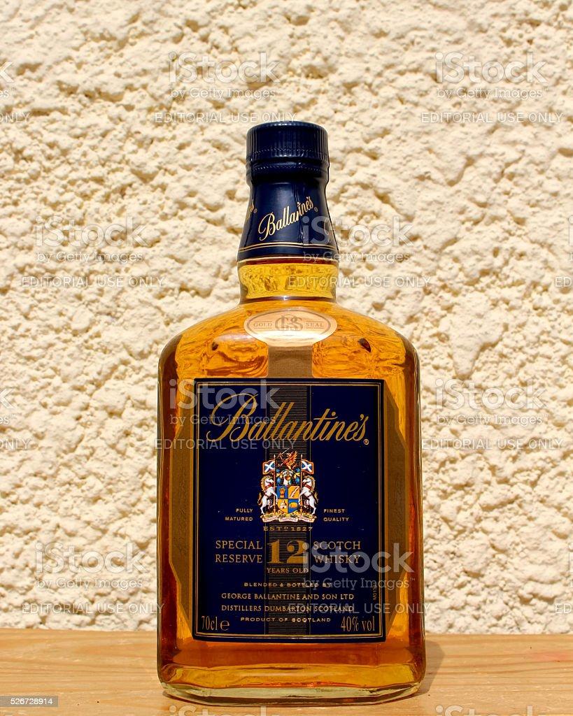 Bottle of Ballantine's stock photo