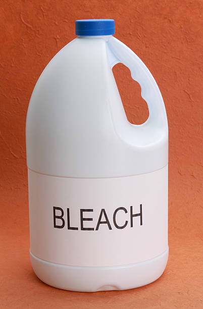 bottle of bleach - bleach stock pictures, royalty-free photos & images