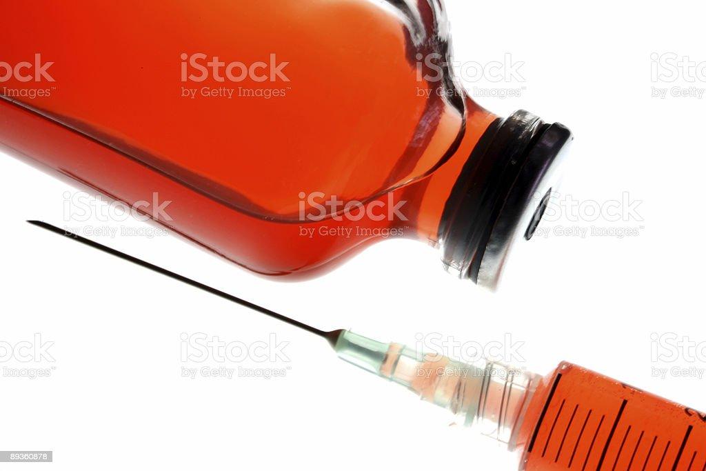 Bottle of blood royaltyfri bildbanksbilder
