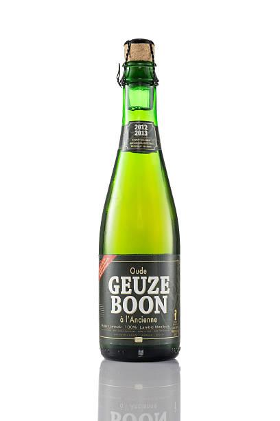 Bottle of Boon Geuze beer stock photo
