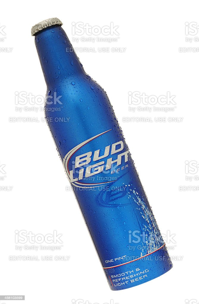 Bottle of Bud Light Beer royalty-free stock photo