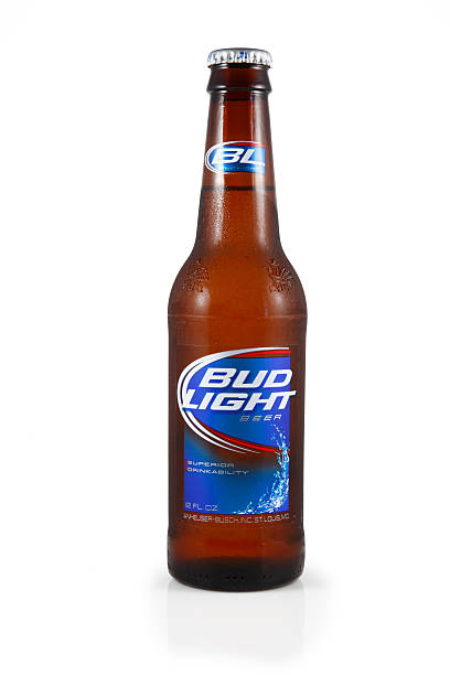 Bottle of Bud Light Beer stock photo