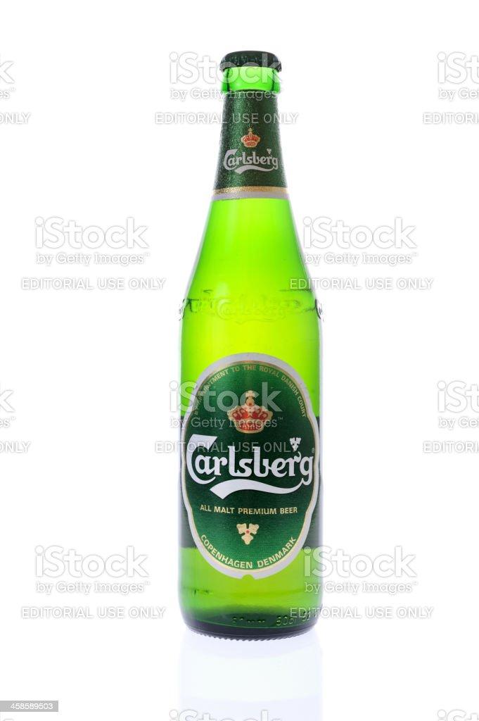 Bottle of Carlsberg beer royalty-free stock photo