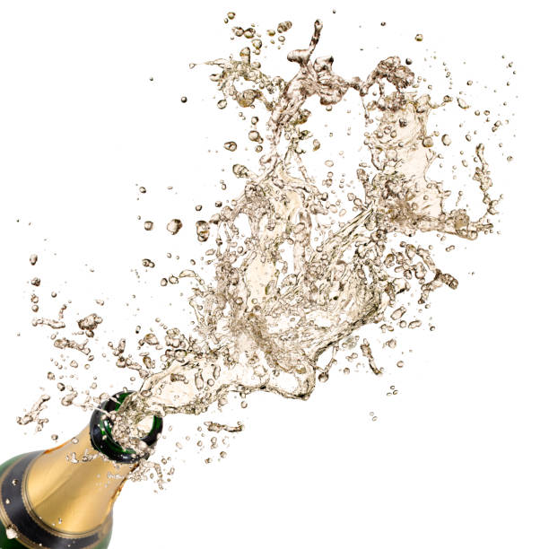 bottle of champagne, new year 2019 celebration theme. - champagne stock pictures, royalty-free photos & images