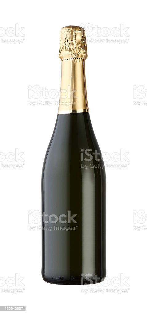 Bouteille de champagne photo libre de droits
