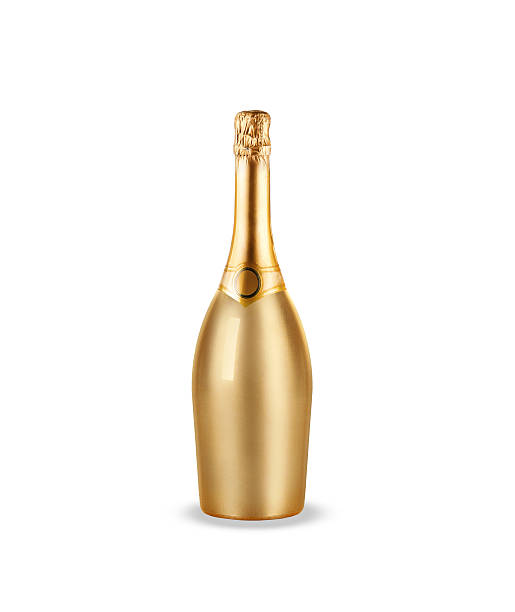 bottle of champagne stock photo