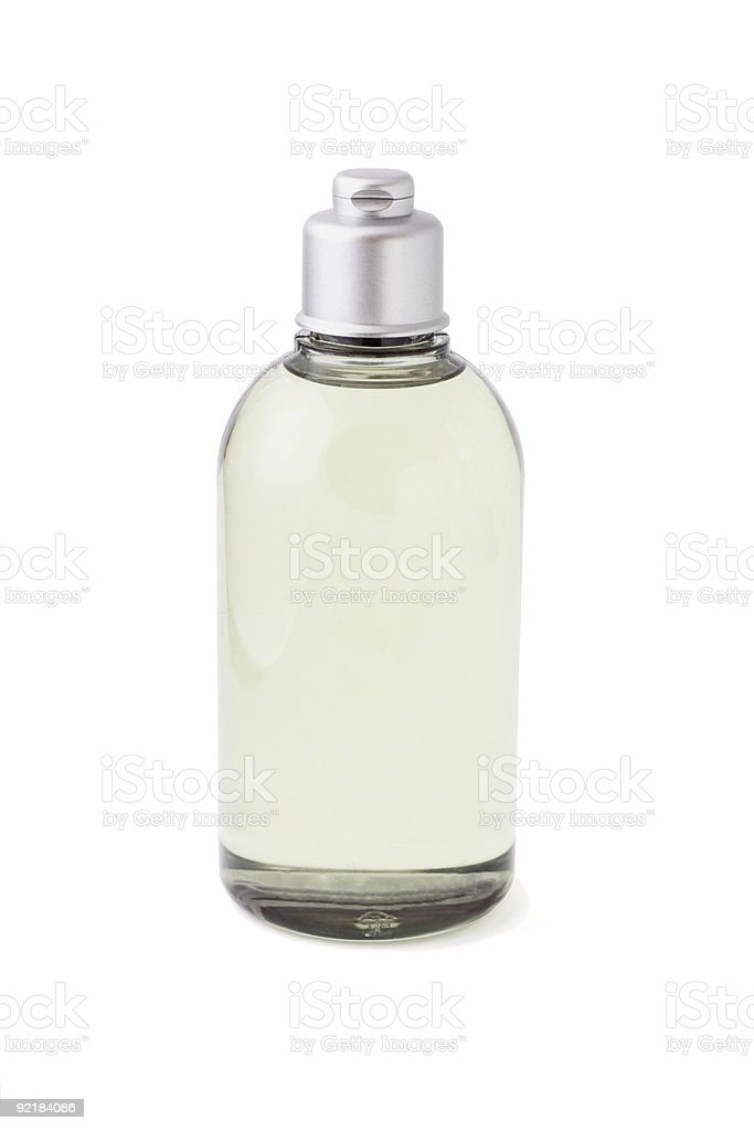 Bottle of cleanser stock photo