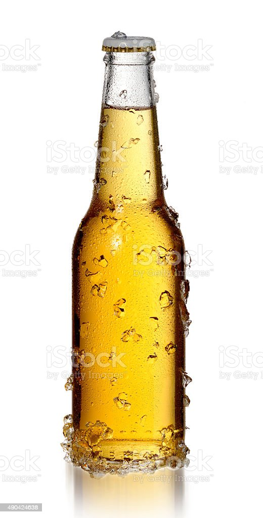 Bottle of Cold Beer stock photo