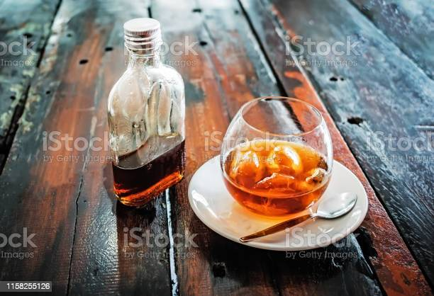 Bottle of cold brew coffee and and ice in glass with prepared cold picture id1158255126?b=1&k=6&m=1158255126&s=612x612&h=2xzi0g5beeigeqaiktxswwkjjoqlph4obeawamzusai=
