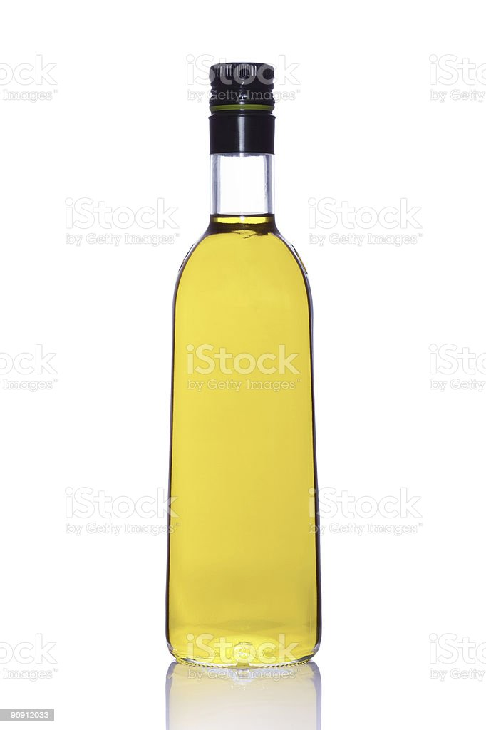 Bottle of extra virgin olive oil royalty-free stock photo
