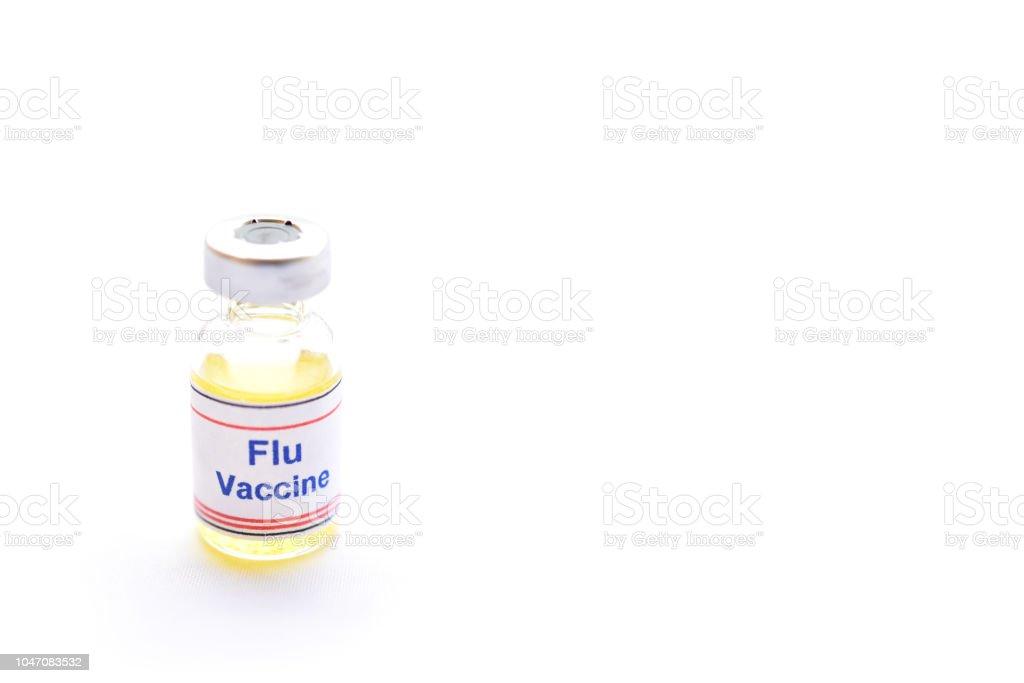Frasco de vacuna contra la gripe inyectable - foto de stock