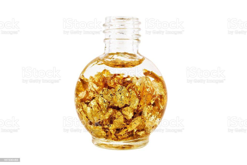 Bottle of Gold stock photo