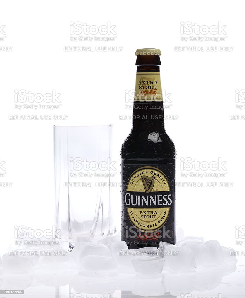 Bottle of Guinness extra stout beer royalty-free stock photo