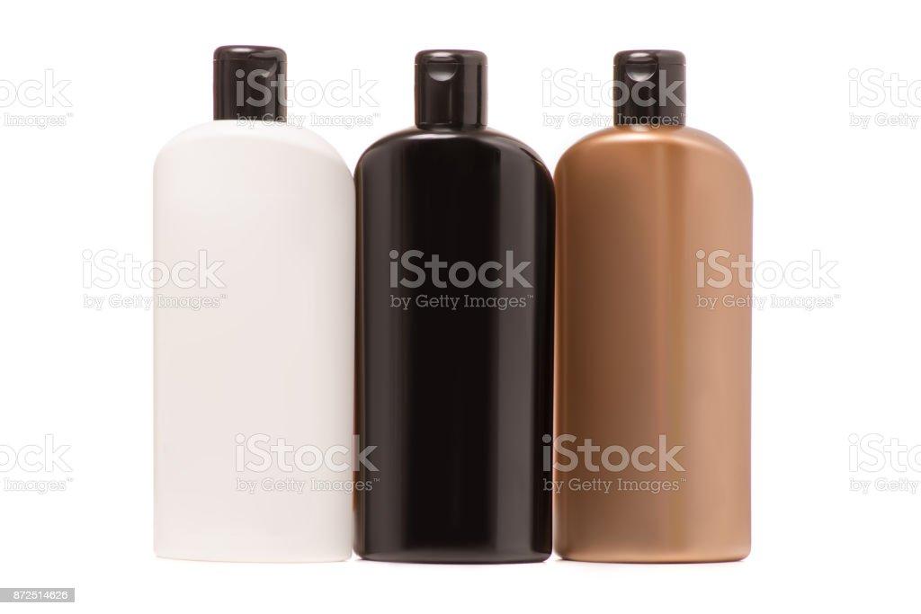 Garrafa de shampoo cabelo - foto de acervo