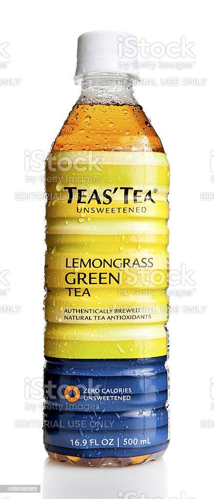Bottle of Ito En, Unsweetenned Jasmine Green Tea stock photo