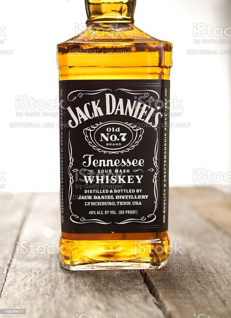 Botella de Jack Daniels - foto de stock