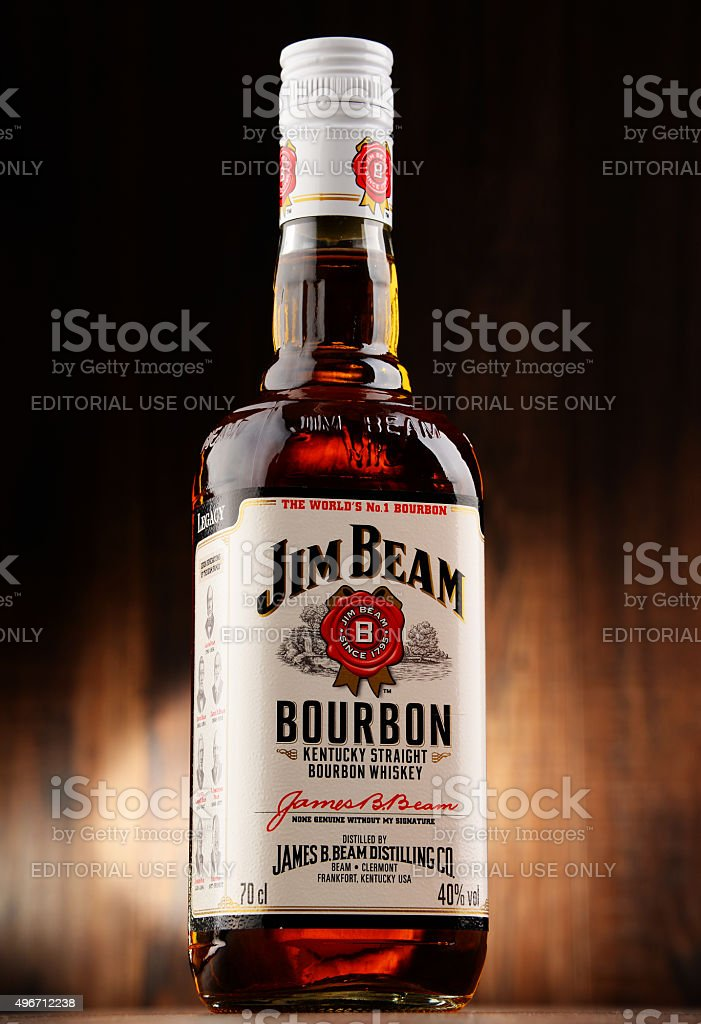 bottle of jim beam bourbon stock photo more pictures of 2015 istock