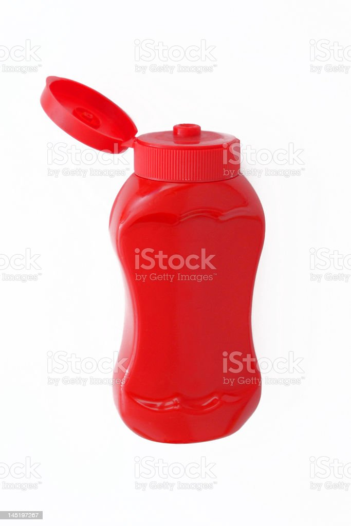 Bottle of ketchup royalty-free stock photo