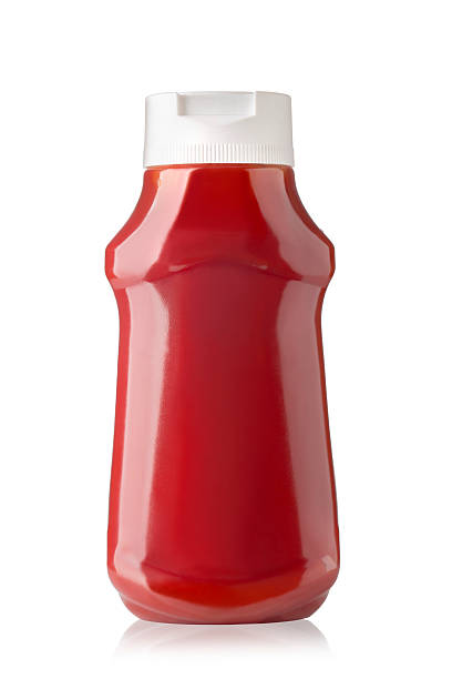bottle of ketchup - ketchup bottle stock photos and pictures
