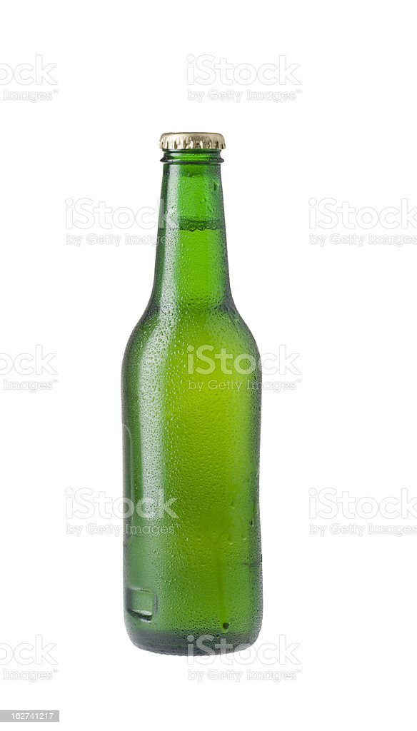 Bottle of lager beer royalty-free stock photo