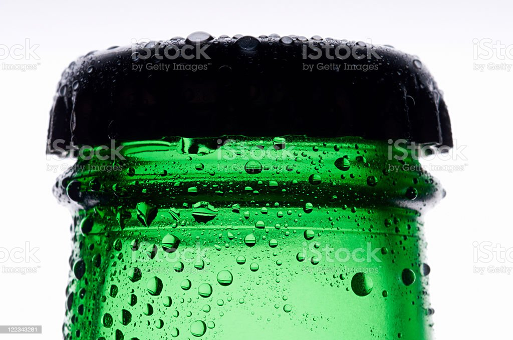 Bottle of lager, close up stock photo