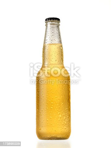 Bottle of Light Beer on White -Photographed on Hasselblad H3D-39mb Camera
