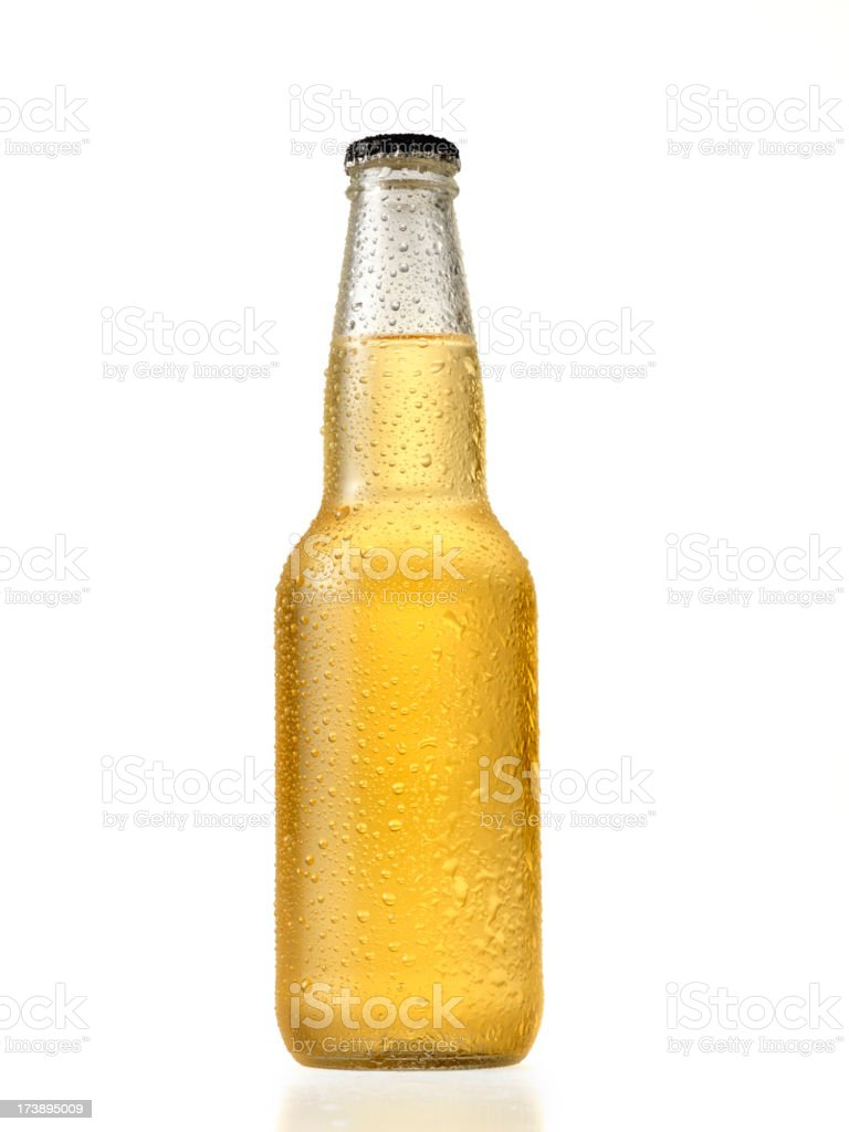Bottle of Light Beer stock photo