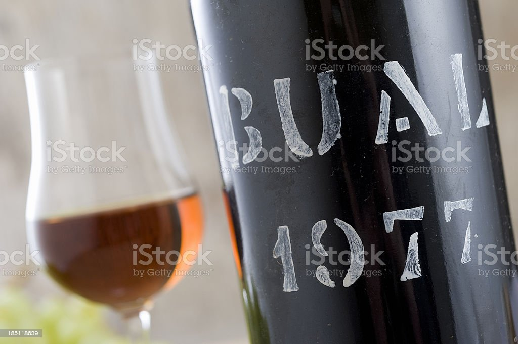 Bottle of Madeira Wine from 1977 royalty-free stock photo