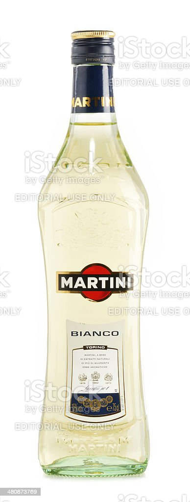 Bottle of Martini isolated on white stock photo