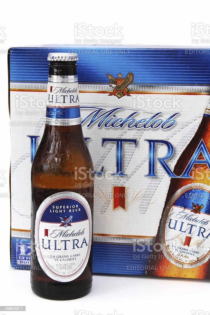 Bottle Of Michelob Ultra Light Beer Royalty Free Stock Photo