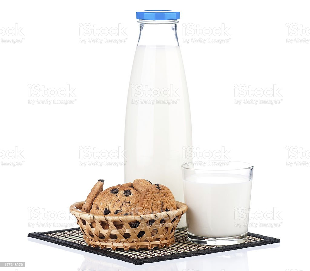 Bottle of milk royalty-free stock photo