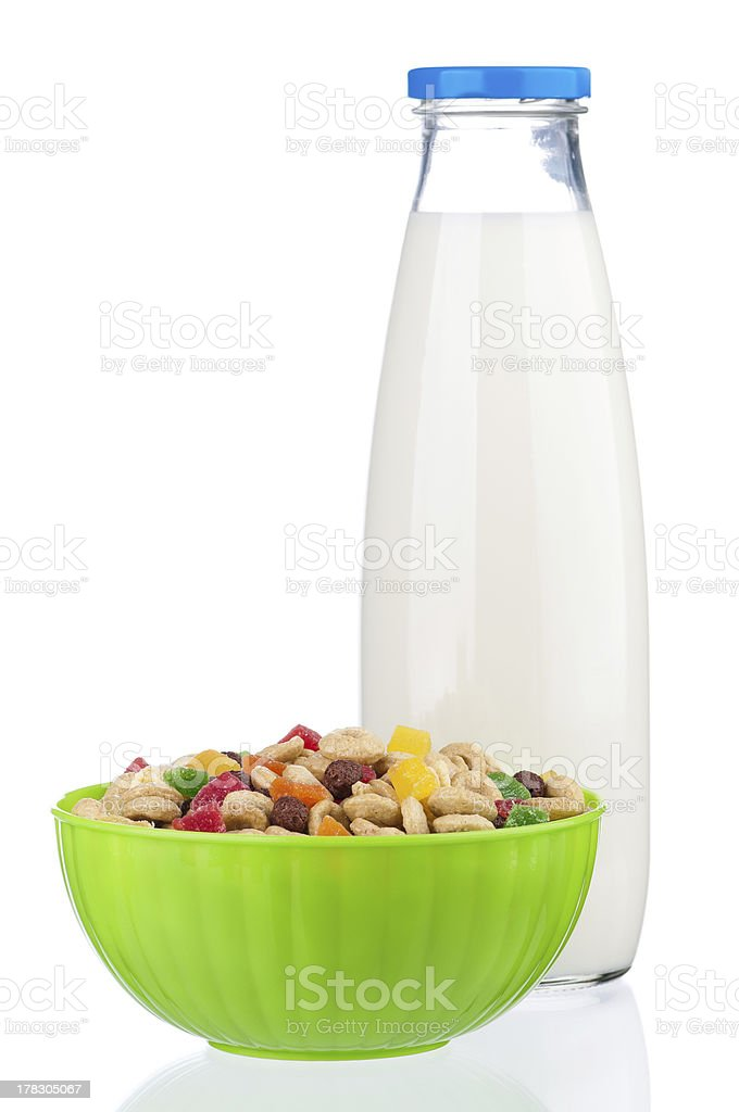 Bottle of milk royalty-free stock photo