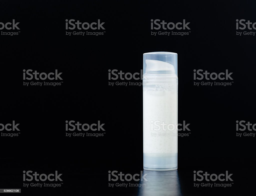 Bottle of Moisturizer stock photo