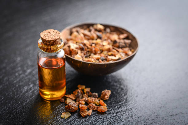Eine Flasche von Myrrhe ätherisches Öl – Foto