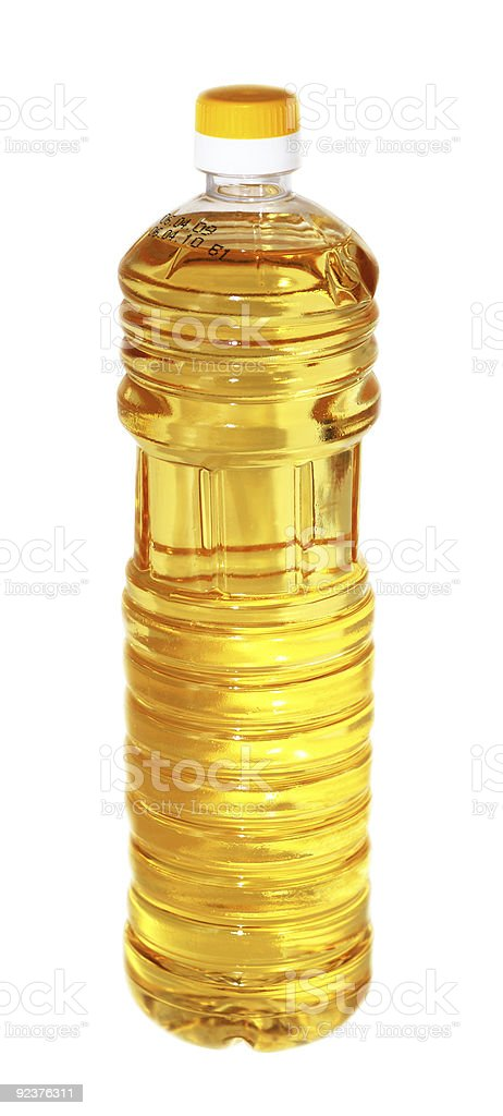 Bottle of oil royalty-free stock photo