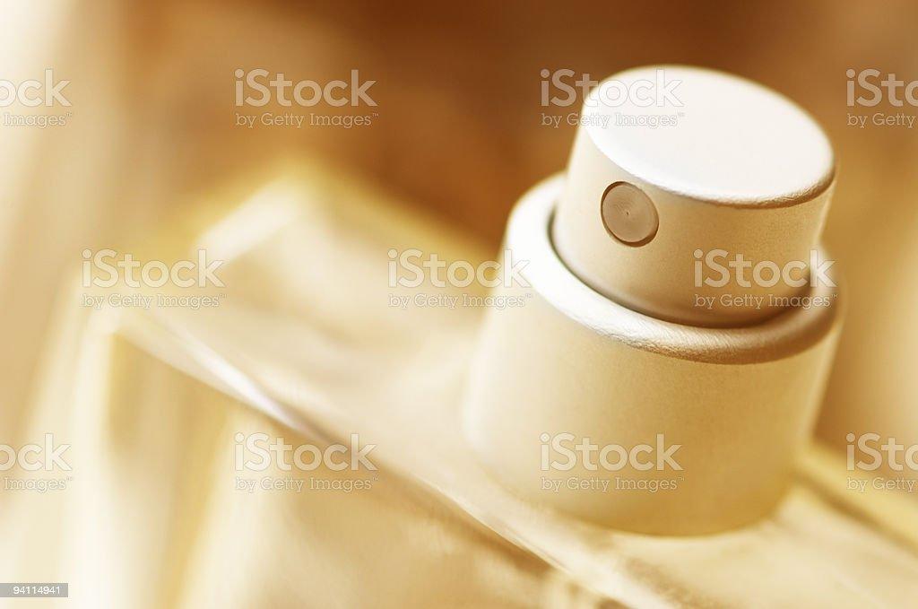 Bottle of perfume in macro stock photo