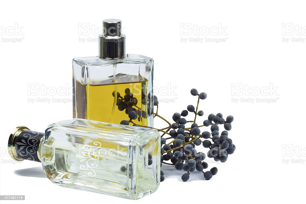 Bottle of perfume, personal accessory, aromatic fragrant odor royalty-free stock photo