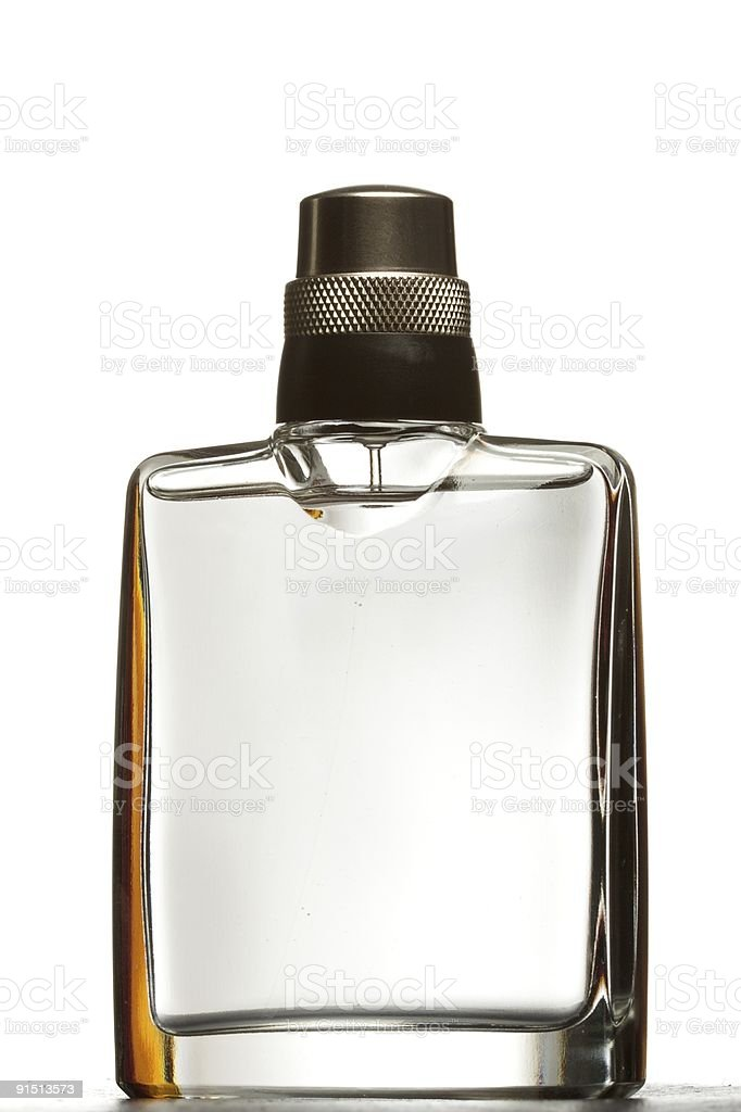A bottle of perfume with no label stock photo