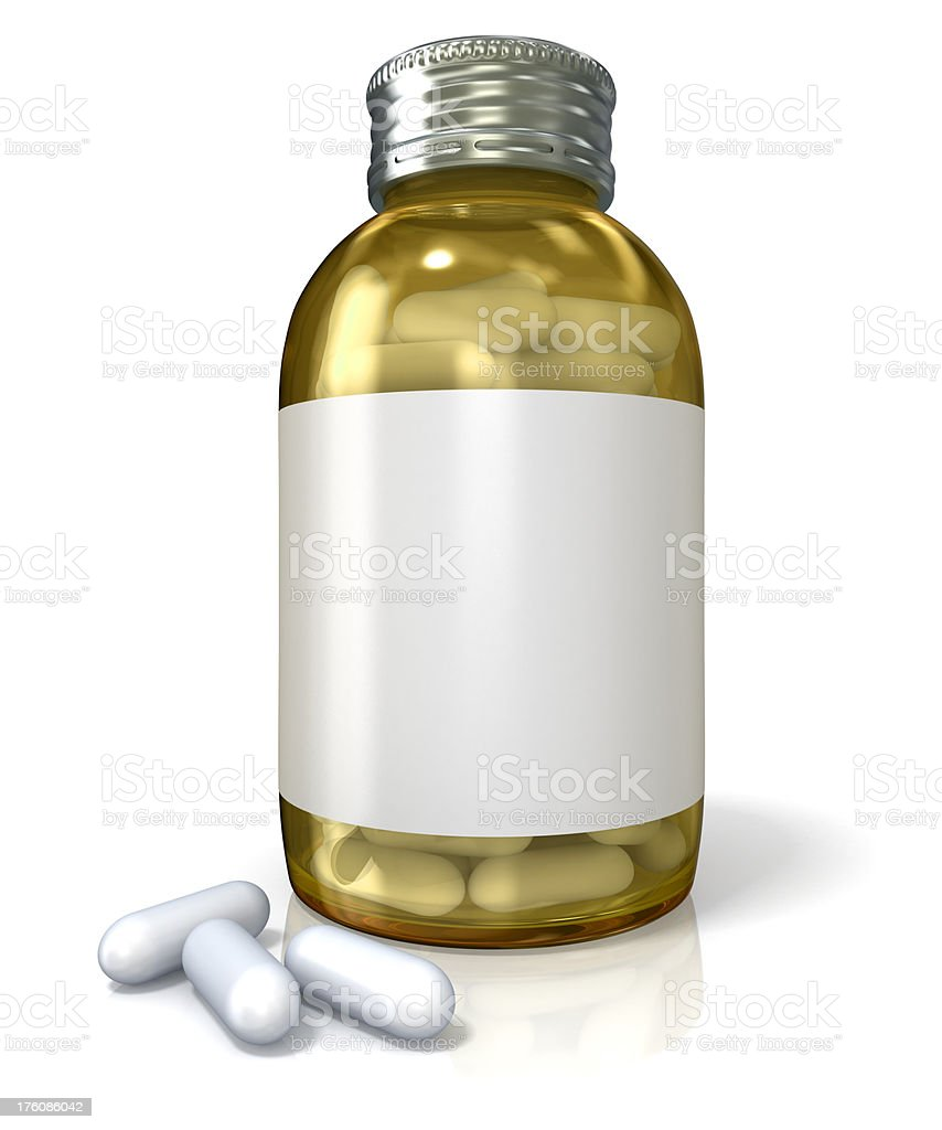 Bottle of pills royalty-free stock photo