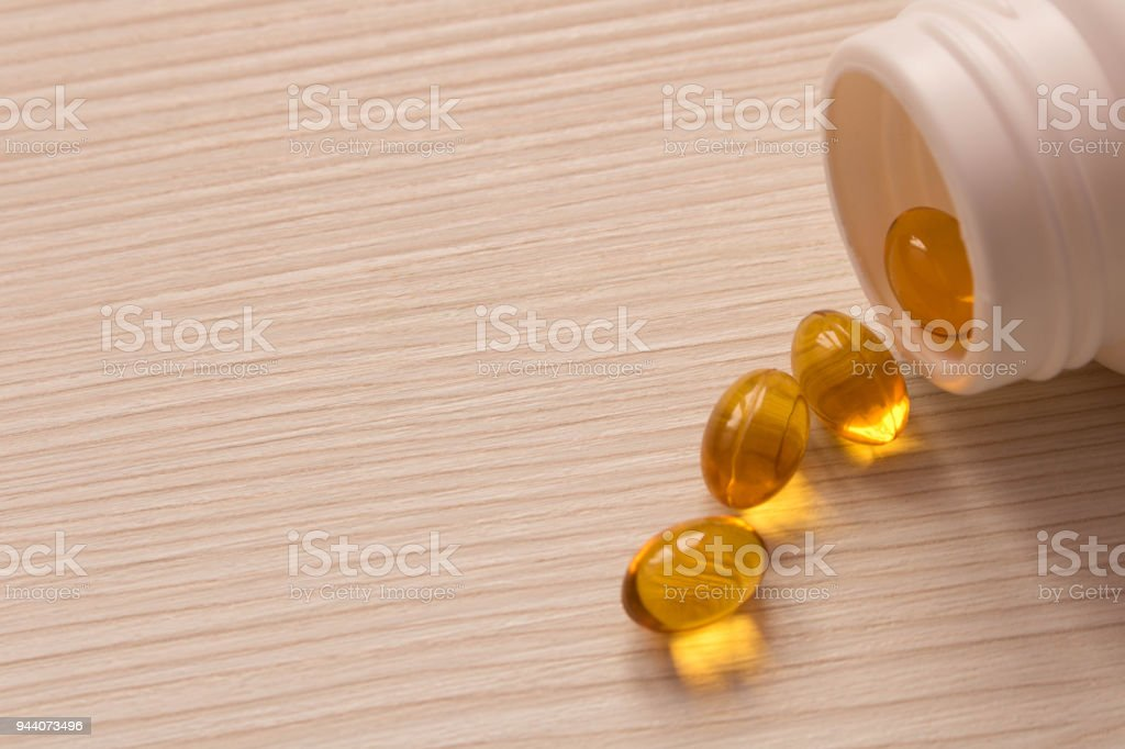 A Bottle Of Pills Scattered Around The Table Birth Control Pills Royalty Free Stock