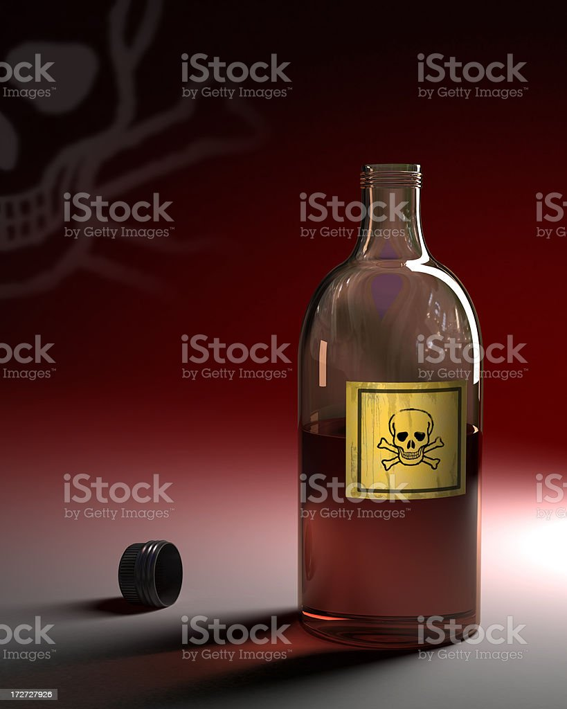 Bottle of poison royalty-free stock photo