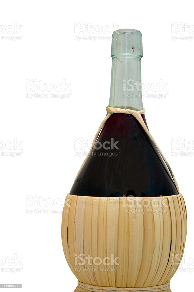 Bottle of red royalty-free stock photo