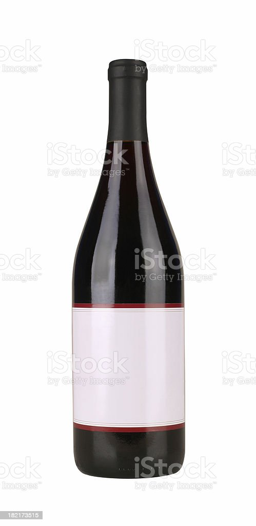 Bottle of Red Wine royalty-free stock photo