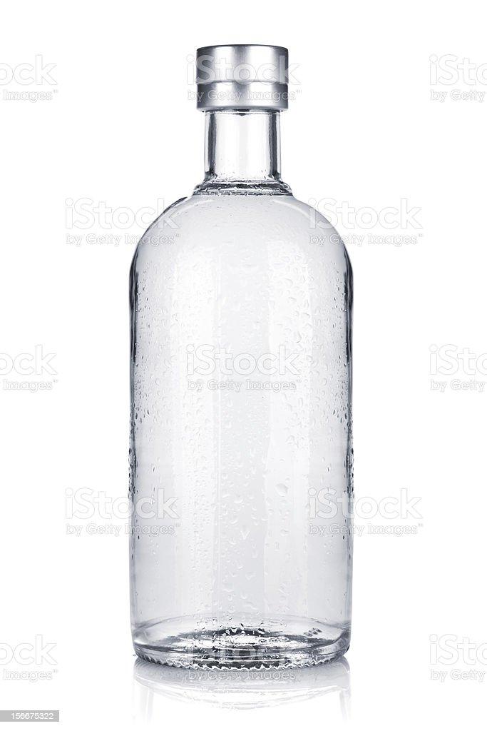 Bottle of russian vodka royalty-free stock photo