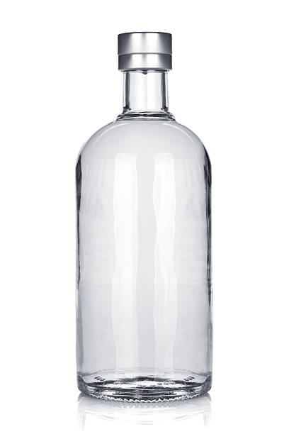 Bottle of russian vodka Bottle of russian vodka. Isolated on white background vodka stock pictures, royalty-free photos & images