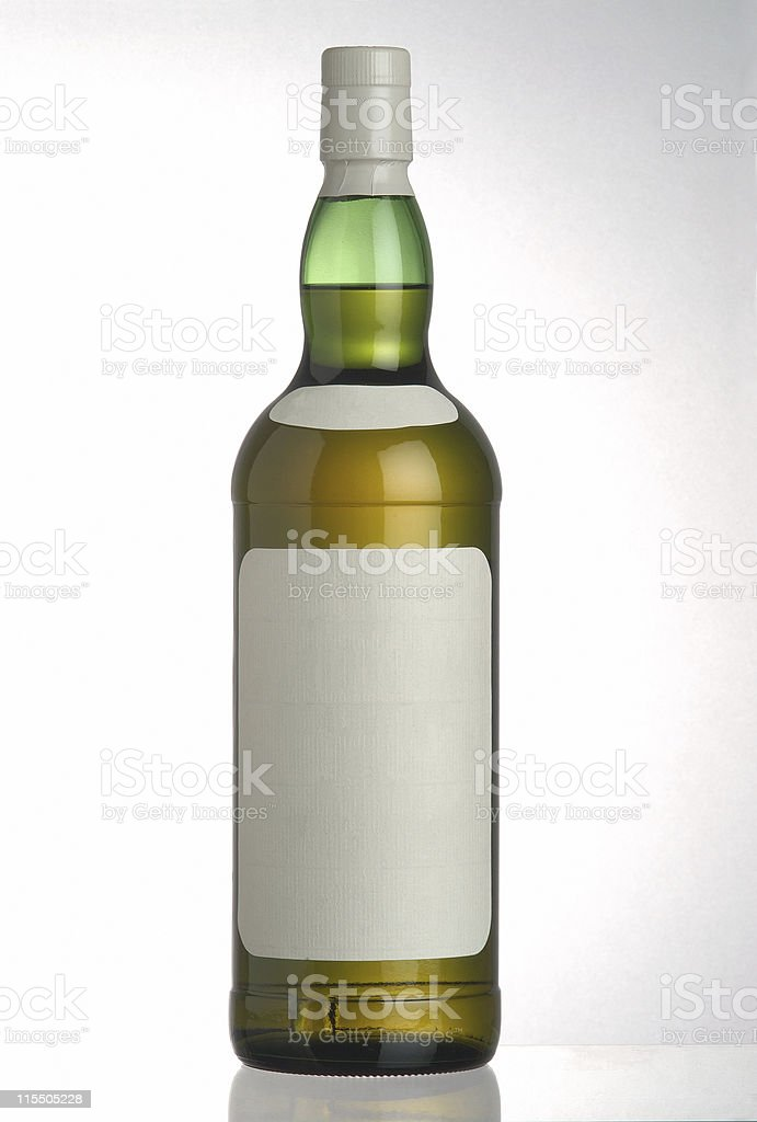 Bottle of short drink (with clipping paths) royalty-free stock photo