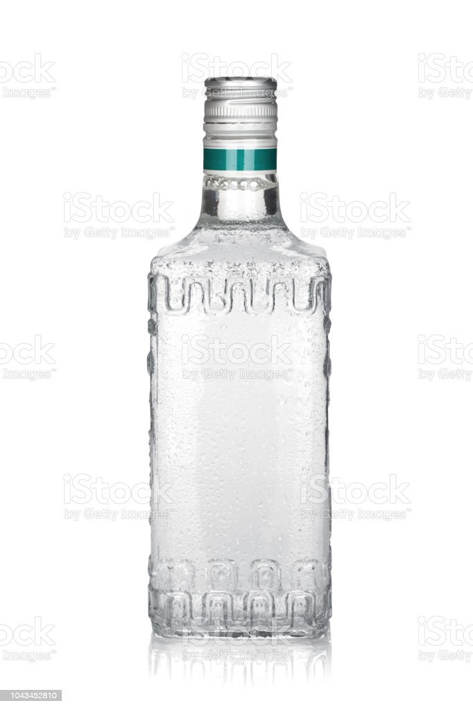 Garrafa de tequila de prata - Foto de stock de Bebida royalty-free