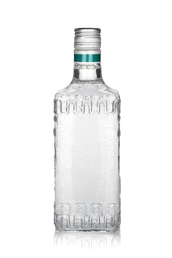Foto de Garrafa De Tequila De Prata e mais fotos de stock de Bebida